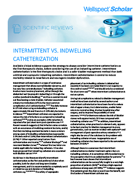 Intermittent Vs Indwelling Catheterization
